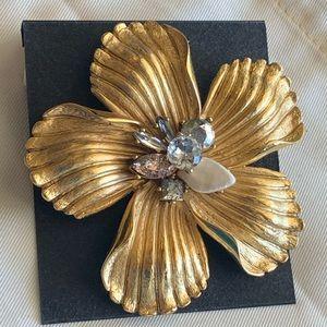 Badgley Mischka! Statement Floral Pin Brooch